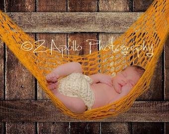 Brown Hammock, Crochet Prop, Newborn, Coffee, Photo Prop Hammock, crochet hammock, newborn prop, boy, girl, hanging prop, newborn hammock