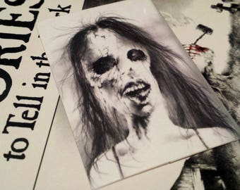 FREE SHIPPING! 3 Scary Stories To Tell In The Dark Stickers, Sticker Pack, Stephen Gammell, Alvin Schwartz, 80s, Horror, Halloween