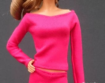 Tops for Barbie,Muse barbie,Tall barbie, FR, Silkstone -No. 0228