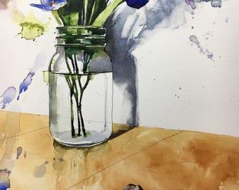 "1132 original watercolor 8x10"""