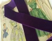 Dark Purple Velvet Ribbon...