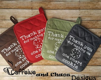 Oven Mitt with Cookie Mix Gift Set, Thank you for Making Me a Smart Cookie, Baking Gifts, Oven Mitt Gift Set, Personalized Teacher Gifts