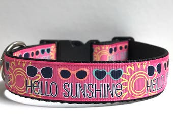 "1"" Hello Sunshine collar"