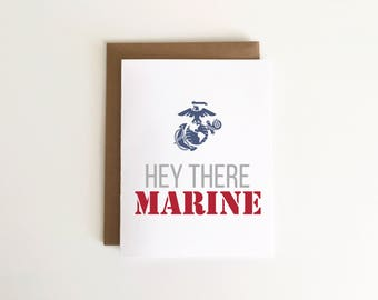 Hey There Marine Military/Deployment Card 1pc