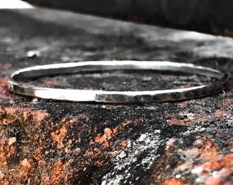 Sterling Silver Bangle Bracelet 14k Gold Filled Bangle Large Bangle Small  Bracelet XL XXL XXXL