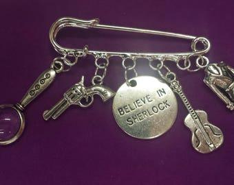 Sherlock Holmes  themed Pin Bag Charm