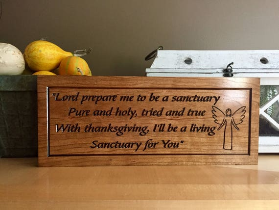 Wood carved inspirational quotes religious gifts angel