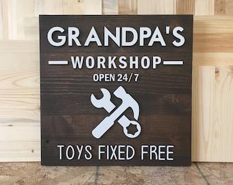 Grandpas Workshop Open 24/7 Toys Fixed Free