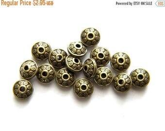 HALF PRICE 10 Bronze Disc Beads