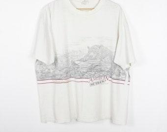 the great southwest t shirt - vintage 90s - desert - nature scene - animals