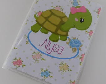 Photo Album Baby Girl Turtle 4x6 or 5x7 Pictures Grandmas Brag book Personalized Baby Keepsake Gift 656