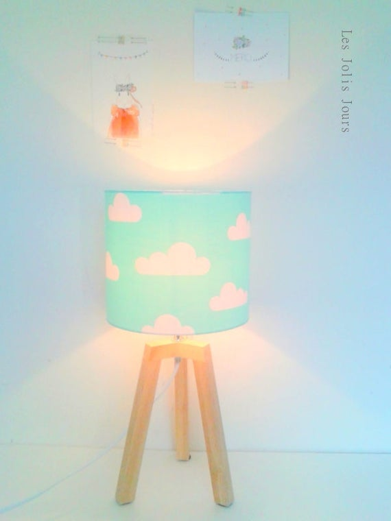 Reserved for Véronique Lampe tripod and MINT SKY Wall Sconce