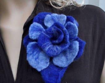 SALE Felted wool flower brooch pin Felt flower brooch Felt brooch Felted flower brooch OOAK