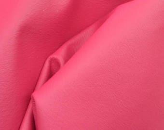 "Tropical Hibiscus Pink ""Bold & Beachy""  Leather Cow Hide 4""x 6"" Pre-Cut 2-3 oz flat grain DE-57312 (Sec. 8,Shelf 6,D,Box 5)"