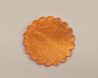 "12 pack - Apricot Golden Nugget ""Vegas Collection"" Leather Concho Rosette 2"" TA-59963 (Sec 1, Shelf 2,A)"