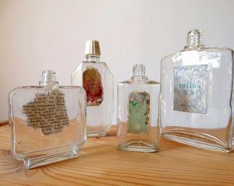 Perfume Bottles Set, Small Glass Bottles, Vanity Decor, Scent Bottle, Miniature Bottle Set, Old Perfume Bottle, Vanity Bottle, Perfume Vial,