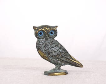 Greek Owl, Brass Owl Figurine, Owl Miniature, Owl Statue, Owl Sculpture, Athenas Owl, Brass Bird Miniature, Brass Figurine, Owl Decor, Owl