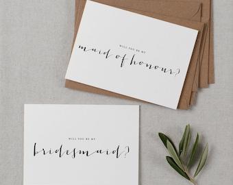 7 x Will You be My Bridesmaid Proposal Cards, Maid of Honor Card, Bridesmaid Invitation, Asking Bridesmaid Cards, Maid Of Honor Proposal, K4