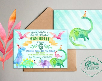 Dinosaur Birthday Invitation, Dinosaur Invitation, Dino-mite celebration, Dinosaur Birthday Party