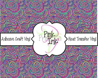 Paisley Patterned Craft Vinyl and Heat Transfer Vinyl in pattern 814