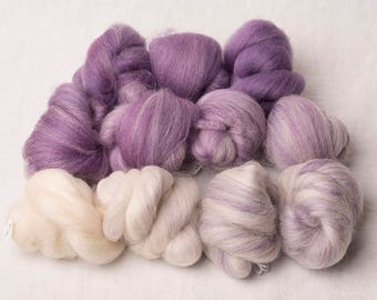 Beautiful White to Purple Gradient set, perfect for spinning (170199)