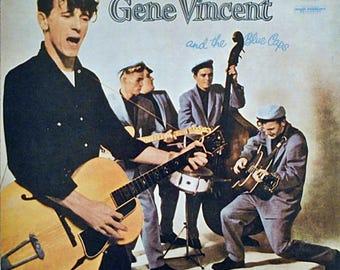 Vinyl Record - Gene Vincent - Gene Vincent And The Blue Caps French vinyl LP album (LP record) - 1979 Reissue.