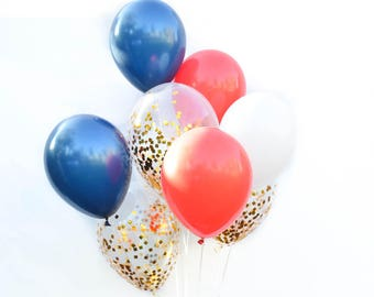 4th of July Balloons 4th of July Party Decor Red White and Blue Balloons Patriotic Balloons, Independence Day Balloons Military Balloons