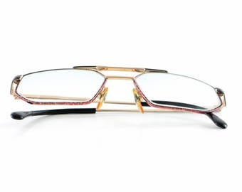 Vintage Trend Company eyeglasses original nerd glasses old school black red copper colorful design