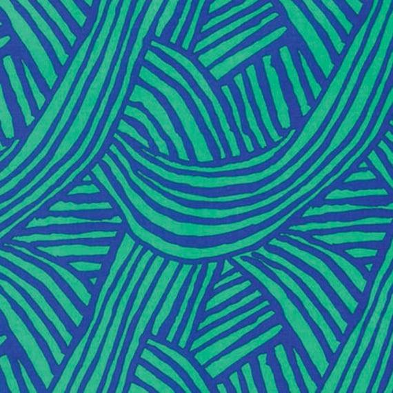 RAKED Cobalt Blue Green ARTISAN Kaffe Fassett Sold in 1/2 yd increments