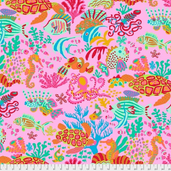Pre-Order SCUBA Pink Brandon Mably PWBM064.PINK  Sold in 1/2 yard increments Pre-Order item