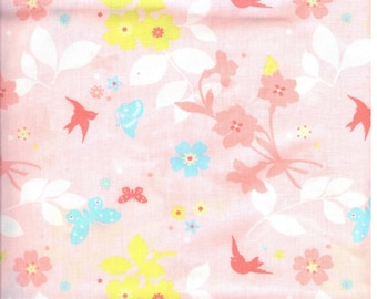 Fabric flowers and birds