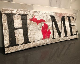 Home State Wood Sign - Reclaimed Home Decor *Choice of State