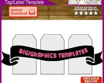 Gift Tags 3 x 5 inch (76.20 x 127mm) Hanging Tag Decorative Printable Template Instant Download PNG Format Digit...