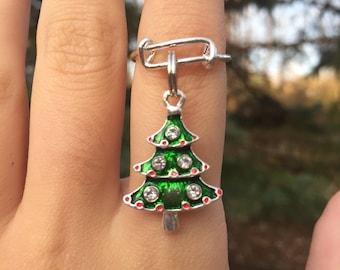 CHRISTMAS TREE RING, christmas ring, christmas jewelry, holiday ring, christmas, holiday jewelry