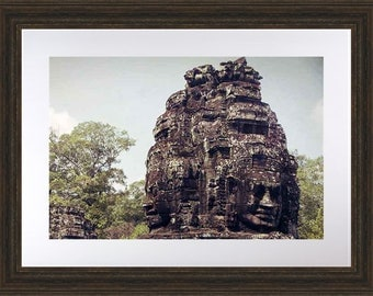 Bayon Temple Art, Cambodia Photography, Cambodia Art Print, Rustic Wall Art, Travel Photography, Siem Reap Print