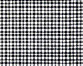 """Fabric Finders -Black and White Gingham Check  1/8"""" gingham - 60"""" wide - 100% cotton"""