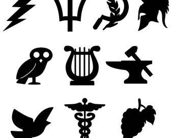 Percy Jackson Cabin Symbol Vinyl Stickers