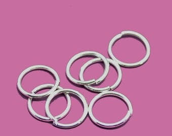 07mm silver jump rings