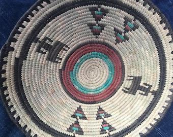 Nigeria Fulan plates basket, original made grass