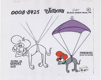 Jetsons Astro Jetson Production Animation Model Cel 1985 Hanna Barbera COA