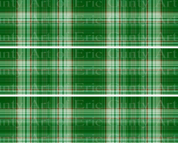Green Plaid Birthday - Designer Strips - Edible Cake Side Toppers- Decorate The Sides of Your Cake! - D22723