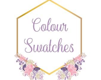 Custom Bridesmaid Robe Colour Swatches