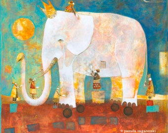 Archival Art PRINT The Blind Men and The Elephant