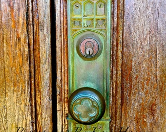 Old Wooden Hawaiian Church Door Patina Door Knob Fine Art Photography - Door Photography Architecture Decor Door Photo