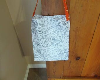 Color in Trick or Treat Bag