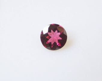 7mm Natural RHODOLITE GARNET round cut faceted gemstone.....