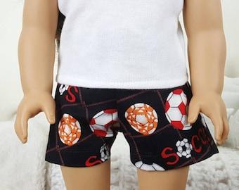 18 inch doll soccer shorts | boy doll | sports shorts