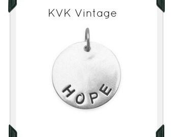"Oxidized ""HOPE"" Pendant"