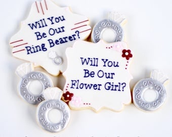 Half Dz. Ringbearer and Flower Girl Cookies! Favors, gift, and More!