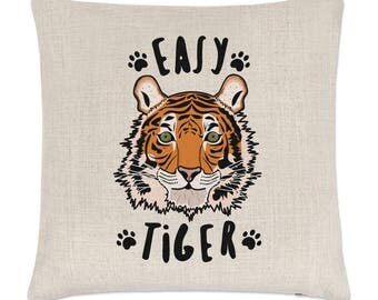 Easy Tiger Linen Cushion Cover